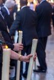 Evento religioso - dettaglio Immagini Stock Libere da Diritti