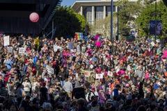 Evento speciale e dimostranti di marzo delle donne intorno a Los Angeles Fotografie Stock Libere da Diritti