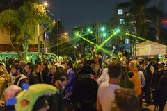 Evento speciale - Hollywood ad ovest Halloween Carnaval fotografie stock libere da diritti