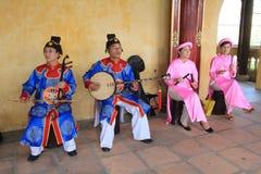 Evento tradizionale di prestazione di musica del Vietnam Immagini Stock Libere da Diritti