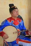 Evento tradizionale di prestazione di musica del Vietnam nella tonalità Fotografie Stock Libere da Diritti