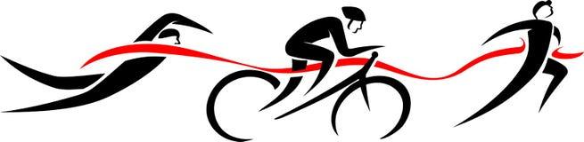 Eventos abstratos do Triathlon Fotos de Stock Royalty Free