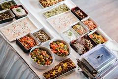 Eventos de la comida fría de la boda del abastecimiento Fotos de archivo libres de regalías