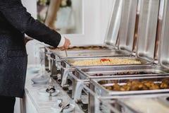 Eventos de la comida fría de la boda del abastecimiento Fotografía de archivo libre de regalías
