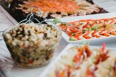 Eventos de la comida fría de la boda del abastecimiento Imagen de archivo libre de regalías