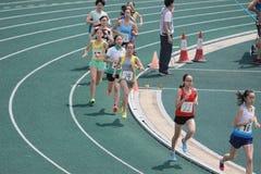 Eventos de pista durante 6to Hong Kong Games Fotografía de archivo