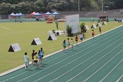 Eventos de pista durante 6to Hong Kong Games Fotografía de archivo libre de regalías
