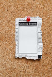 Eventos de vinda Classifieds Imagem de Stock