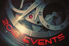 2018 eventos no mecanismo do relógio dos homens 3d ilustração royalty free