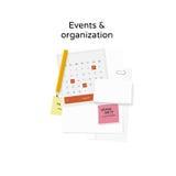 Eventos y organización Imagenes de archivo