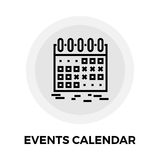 Events Calendar Line Icon. Events Calendar icon vector. Flat icon  on the white background. Editable EPS file. Vector illustration Stock Photo