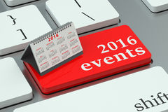 2016 events concept Royalty Free Stock Photos