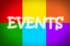 Events Concept Royalty Free Stock Photo