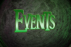 Events Concept. Text idea color royalty free stock photography