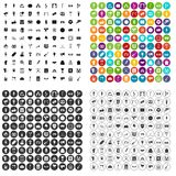 100 events icons set vector variant. 100 events icons set vector in 4 variant for any web design isolated on white Stock Photo