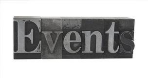 Free  Events  In Old Metal Type Royalty Free Stock Image - 2938176