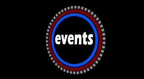 Events Intro Animation stock footage