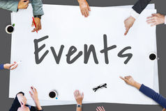 Events Make It Happen Concept. People having a Discussion Events stock photo