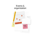 Events & organization vector illustration