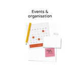 Events & organization illustration Stock Photography