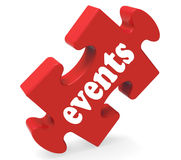 Events Puzzle Means Concerts Occasions Events Stock Image