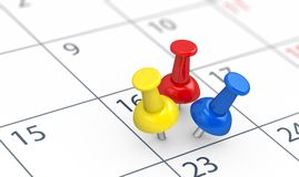 Events On Busy Calendar Day Concept stock illustration