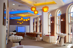 Events room. Caro hotel and events centre room in bucharest near aviatiei district Royalty Free Stock Image