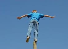 In evenwicht brengend Akte! stock fotografie