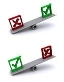 In evenwicht brengende antwoorden Stock Fotografie