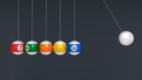 In evenwicht brengende biljartballen Stock Afbeeldingen