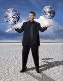 In evenwicht brengende Globale Zaken Stock Afbeeldingen