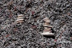 In evenwicht brengende rotsen Royalty-vrije Stock Afbeelding