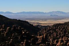 In evenwicht brengende Rotsen en Ongeluksboden van de Chiricahua-bergen van Chiricahua Apaches royalty-vrije stock fotografie