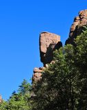 In evenwicht brengende Rotsen en Ongeluksboden van de Chiricahua-bergen van Chiricahua Apaches royalty-vrije stock foto