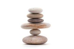 In evenwicht brengende zen geïsoleerde stenen Royalty-vrije Stock Afbeelding