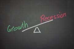 Evenwicht van de groei en recessie Royalty-vrije Stock Foto