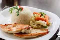 Evenwichtig maaltijd of dieetconcept royalty-vrije stock fotografie