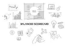 Evenwichtig scorecard Royalty-vrije Stock Afbeeldingen
