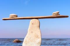 Evenwichtig van stenen Stock Afbeelding
