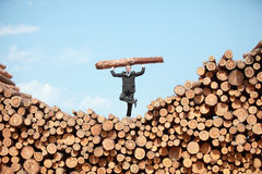 Evenwichtige hardworking bedrijfsmens Stock Foto