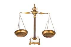 Evenwichtige schaal Stock Afbeelding