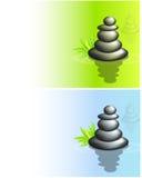 Evenwichtige stapels zenstenen Stock Afbeeldingen