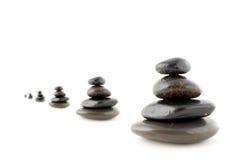 Evenwichtige stenen Stock Afbeelding