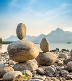 Evenwichtige stenen Stock Foto