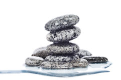Evenwichtige zen stenen Stock Fotografie