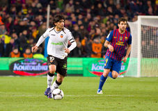 Ever Banega in action Royalty Free Stock Image