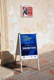 Ever Closer Union Sign, Valletta. Stock Image