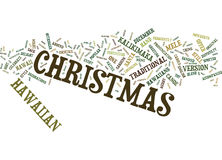 Ever Considered Christmas In Hawaii Text Background Word Cloud Concept Stock Photography