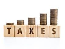 Ever increasing taxes Royalty Free Stock Photos
