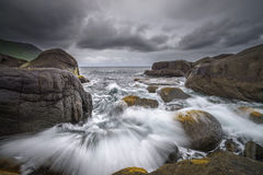 Ever moving ocean in Norway Stock Photography